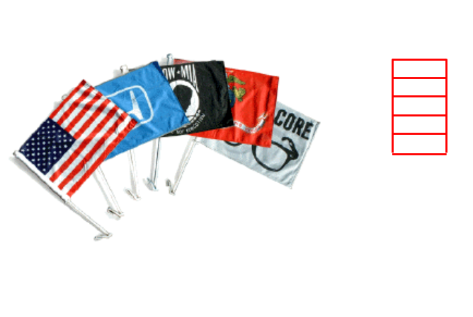 "Show your team spirit with custom car flags from Patterson Print Shop!  These polyester, full-color, 10.5 x 7.5"" inch flags are the perfect fundraiser item for your child's sports team,  organization, or event. These flags are light-weight, weather resistant, and made in the USA. CAR FLAGS"